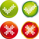 Tick and cross buttons. Vector illustration of tick and cross buttons Stock Photo