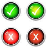 Tick and Cross Buttons Royalty Free Stock Image