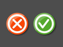 Tick and cross icons Royalty Free Stock Photo
