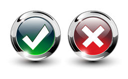 Free Tick & Cross Sign Buttons. Royalty Free Stock Images - 13251909