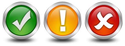 Tick cross web button Stock Photos