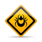 Tick danger alert sign Stock Photography