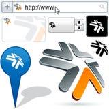 tick för logo för design för affär 3d Fotografering för Bildbyråer