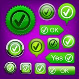 Tick high-detailed modern buttons. Royalty Free Stock Photo