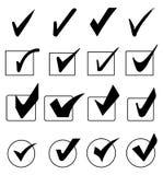Tick Icons Set Stock Photo