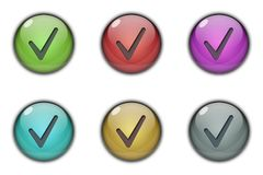Tick Like Button Multicolor. 3D Tick Like Button Logo Symbol multicolor Stock Image