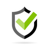 Tick mark approved vector icon Stock Image