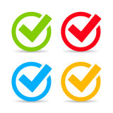 Tick mark icon Stock Photography