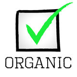 Tick Organic Represents Mark Checkmark And Checked Stock Images