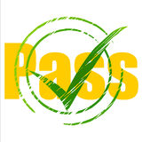 Tick Pass Shows Check Confirm And Approval. Tick Pass Meaning Passing Approve And Approval Royalty Free Stock Photos