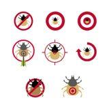 Tick. A set of dog tick icons Royalty Free Stock Photos