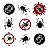 Tick set. Vector Stock Photo