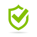 Tick shield security vector icon Stock Photos