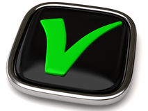Tick sign icon Stock Images