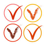 Tick Sign Icon Collection Check-Lijstknoop Stock Afbeelding