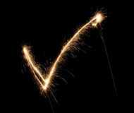 Tick sparkler Royalty Free Stock Photos