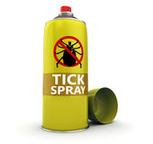 Tick spray bottle Royalty Free Stock Images
