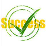 Tick Success Means Succeed Progress e sinal Imagens de Stock