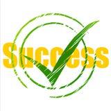 Tick Success Means Succeed Progress und Prüfzeichen stock abbildung