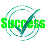 Tick Success Shows Progress Checkmark And Correct Stock Photography