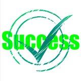 Tick Success Shows Progress Checkmark y corrige Fotografía de archivo