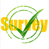 Tick Survey Represents Yes Checkmark And Assessing Stock Images