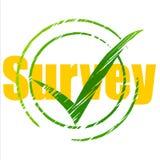 Tick Survey Represents Yes Checkmark en Beoordeling Stock Afbeeldingen