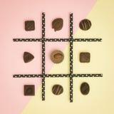 Tick-tack-toe chocolate Stock Images