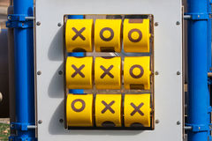 Tick-tack-toe game at playground Royalty Free Stock Photography
