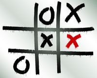 Tick-tack-toe(stalemate) Royalty Free Stock Images