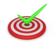 Tick on target Stock Photos