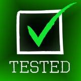 Tick Tested Indicates Confirmed Ratified und hervorragende Leistung stock abbildung