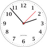 Tick tock. A simple illustrated clock for teaching the time Royalty Free Stock Photography