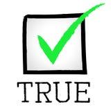 Tick True Indicates No Lie och godkänt Arkivbild