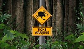 Tick Warning vektor illustrationer