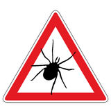 Tick warning sign Stock Image