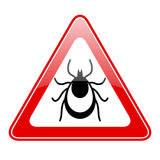 Tick warning vector sign Stock Photos