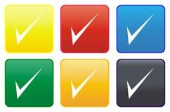 Tick web button Royalty Free Stock Photos