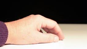 Ticken die Finger stock video footage