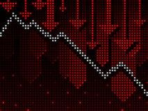 Ticker business chart going down stock illustration