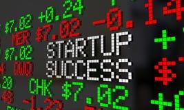 Ticker de démarrage de marché boursier du succès IPO Photos libres de droits