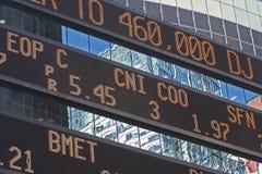 Ticker de marché boursier Photos stock