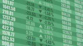 Ticker de marché boursier Fond financier 4K banque de vidéos