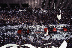 Ticker Tape Parade at Broadway Stock Photos
