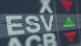 Ticker van de Enscoesv voorraad op het scherm Redactie loopable animatie stock footage