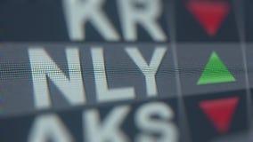 Ticker van de het BEHEERSnly voorraad van ANNALY HOOFD Redactie loopable animatie stock footage