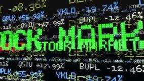 Tickers de marché boursier Loopable banque de vidéos