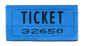 Ticket. A Movie-Ticket or Admission-Ticket Royalty Free Stock Photos