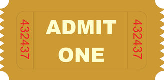Ticket admit one Stock Image