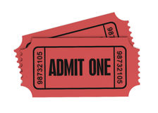 Ticket admit one 3d illustration. Isolated on white background Royalty Free Stock Photography